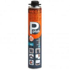 Пена монтажная пистолетная всесезонная P PLUS Pistol Foam Mega 600г